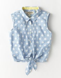 I've spotted this Tie Front Shirt Light Blue Spot Baby Dress Design, Baby Girl Dress Patterns, Baby Clothes Patterns, Baby Girl Dresses, Indian Fashion Dresses, Girls Fashion Clothes, Teen Fashion Outfits, Kids Outfits, Kids Fashion