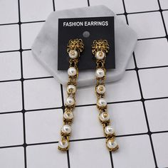 Vintage Baroque Anti Gold Lion Head Long Dangle Earring Pearl Beads Tassel Pendant Brincos Chandelier Jewelry For Christmas Gift