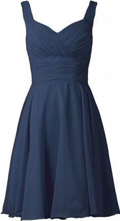 ANTS Women's V-neck Chiffon Bridesmaid Dresses Short Prom Gown Size 4 US Navy Blue in yellow