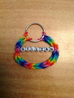 Rainbow loom keychain  #MichaelsRainbowLoom