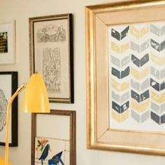 potato stamp chevron art #DIY
