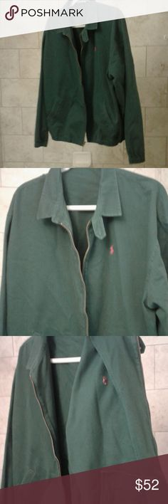 Green Polo Bomber Jacket Good condition. You ll look great out on the town d531b7082e6