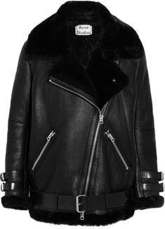 Trending On ShopStyle - Acne Studios Oversized Shearling Biker Jacket