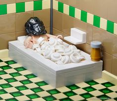 This is just cool. Lego Stormtrooper taking a bath.