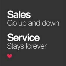Truth! Sales, realtor life, all about customer service!