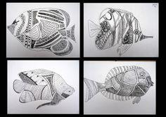 Creatief talent @ SASK!: Vis naar Joseph Szymanski - profiel pen en inkt