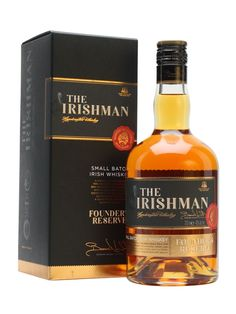 The Irishman Founder's Reserve was the first blend created by Bernard Walsh.  A combination of 70% single malt and 30% single pot still whiskeys, it's triple distilled and aged in bourbon casks.  J...