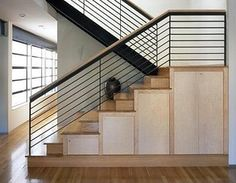 modern indoor balcony railing