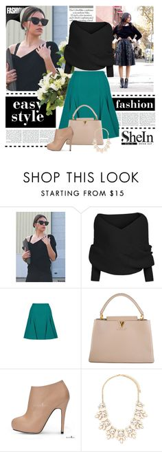 """""""Black Knit Sweater"""" by dzena-05 ❤ liked on Polyvore featuring Roland Mouret, Louis Vuitton and Forever 21"""