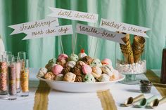 Ice Cream Bar |  Mint + Gold | Styled Shoot | Simply Charming Socials | Atlanta Wedding Planner