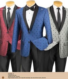 Vinci Mens Suits for Spring 2018 Stylish Mens Fashion, Mens Fashion Suits, Men's Fashion, Dress Suits, Men Dress, Hairspray, Shawl, Polka Dots, Suit Jacket