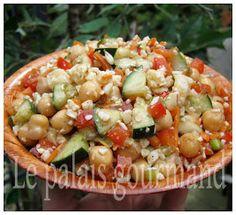 Le+palais+gourmand:+Salade+de+pois+chiches+à+la+grecque