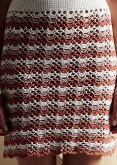 We ♥ this crocheted skirt from Debbie Bliss, inspired by the style of the 1960's.