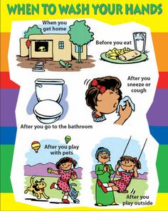 When to wash your hands poster - english                                                                                                                                                     More