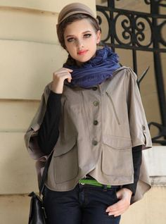 Leisure Hhandsome Hooded Coat$79.00