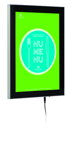 Magnetic LED Box. This stylish LED frame has a removable magnetic front cover to allow quick graphic changes.
