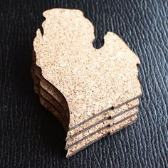 I would LOVE these in my stocking! Michigan Cork Coaster Set of 4 by citybird on Etsy #methodholidayhappy