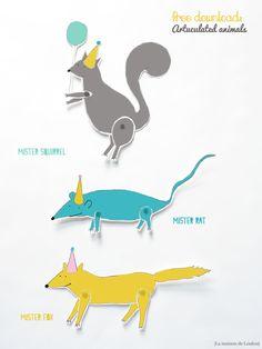DIY articulated animals by La maison de Loulou