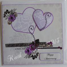 Anniversary card made in Craft Artist