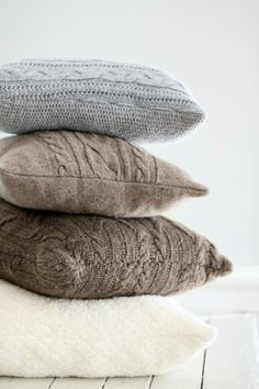 Give them new purpose by upcycling them into gorgeous home decor items. You can even turn them into new fashions to keep you warm this winter season.