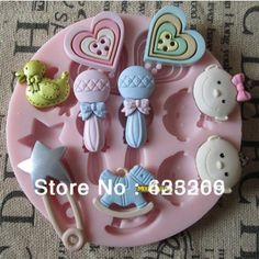 1PCS baby toy silicone fondant cake mold soap,fondant candle molds,sugar craft tools,chocolate mold ,silicone molds for cakes  $4.19
