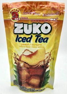 Buy Iced Tea Peach / Durazno flavor by ZUKO at MexGrocer.com Peach Drinks, Fruit Drinks, Fruit Juice, Zuko, Mexican Food Recipes, Snack Recipes, Snacks, Fresco, Raspberry Drink