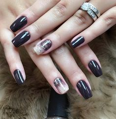 If you have a wide nails choose darker shades which can visually elongate your wide nails. Is's enough to add on one nail a little of rhinestones or a different color that matches the color of the basic manicure and dominant dark colors will shine.