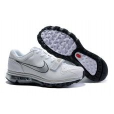 more photos 29e18 fcd26 Hommes Nike Air Max 2009 Leather Blanc Noir