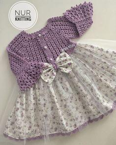 crochet summer dress for girl Girls Knitted Dress, Crochet Dress Girl, Crochet Summer Dresses, Crochet Girls, Crochet Baby Clothes, Crochet For Kids, Knit Dress, Crochet Vest Pattern, Crochet Fabric