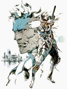 MGS2: Sons of Liberty. I really love Yoji Shinkawa's artwork for the MGS saga