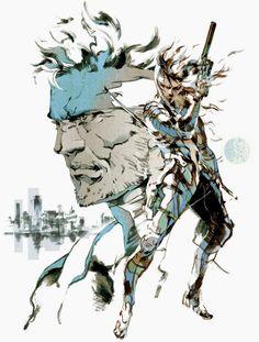 MGS2: Sons of Liberty. I really love Yoji Shinkawa's artwork for the MGS saga