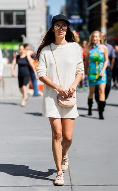 Sara Sampaio from Street Style at New York Fashion Week Spring 2017  It's almost…
