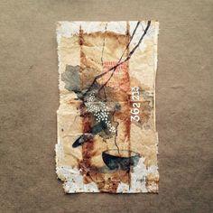ruby silvious art — 363 days of tea. Tea Bag Art, Tea Art, Used Tea Bags, Mix Media, Art Journal Inspiration, Art Techniques, Oeuvre D'art, Art Tutorials, Textile Art