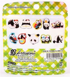 kawaii panda bear sticker sack from Japan