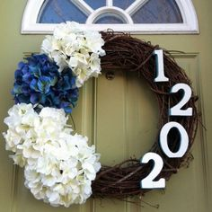 Idea for house number display...DIY Spring Wreaths - Home Decorating and Craft Ideas - Good Housekeeping