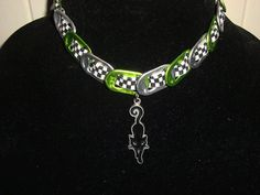 soda can  tab choker with black cat pendant. by fawnabella on Etsy, $12.00
