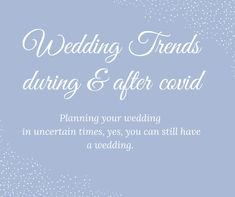 Elopement and Intimate wedding trends. How to have a safe and fun wedding during and after covid. Wedding Quotes, Elope Wedding, Plan Your Wedding, Wedding Trends, Bride, How To Plan, Weddings, Inspiration, Fun