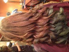 Chalk hair on dark hair!! I love it
