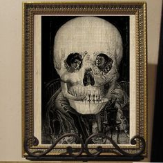 Optical Illusion Skull or French Clown Lovers