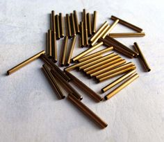 LAST+Set++Vintage+Brass+Tube+Beads+40X+B511+by+EpochBeads+on+Etsy,+$4.00