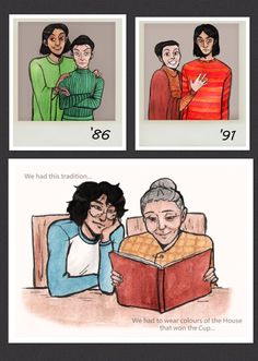 Is that... McGonagall and Snape?<<< I guess so, and the last box has a elderly McGonagall showing Harry the pictures