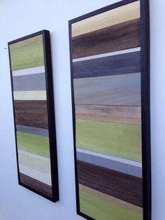 Wood Wall Art Wood Art Reclaimed Wood Art Color Block