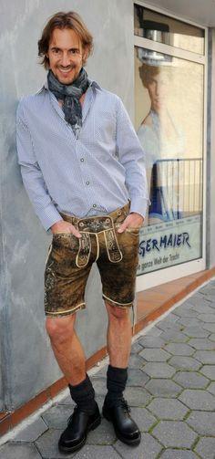 Thomas Hayo in seiner feschen Lederhose von Angermaier Tracht