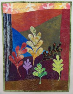 Quilted wall hanging  Do Six Trees Make a Forest by quiltsbyelsie, $150.00