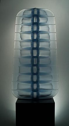 """Matthew Curtis - """"Ice Cell"""" 2009 blown and cold worked glass - Austin Art Studio"""