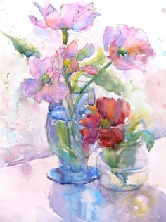 The nora macphail gallery. watercolor by nora macphail. Watercolor Pictures, Watercolor And Ink, Watercolour Painting, Watercolor Flowers, Painting & Drawing, Watercolours, Art Flowers, Pinturas Em Tom Pastel, Art Aquarelle