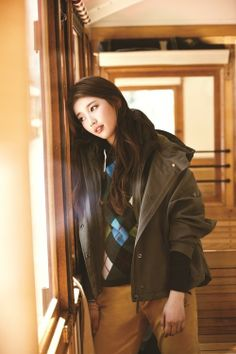 Suzy Bae for Bean Pole Outdoor Cute Korean, Korean Girl, Korean Idols, Ulzzang Fashion, Korean Fashion, Japanese Fashion, Korean Beauty, Asian Beauty, Asian Woman