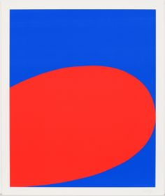 #EllsworthKelly Red/Blue Screenprint from the portfolio Ten Works by Ten Painters, 1964, Edition of 500  Collection of Jordan D. Schnitzer © Ellsworth Kelly and Wadsworth Atheneum; Included in the   Ellsworth Kelly: Prints and Paintings  Exhibition, LACMA, Los Angeles, CA January 22, 2012–April 22, 2012