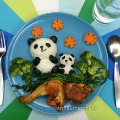Ninguém resiste a combinação de pandas + comida
