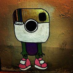 Gunnar with an instagram head : Paste up Paris 2015 | davidgouny